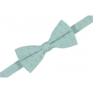 Paisley Light Blue Cotton Bow Tie