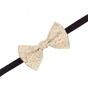 Pailsy Cream Cotton Bow Tie