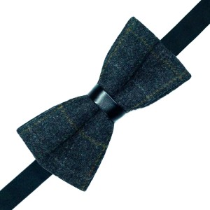 Tweed Blue Checkered Bow tie