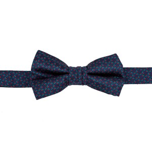 Self Glitter Blue Bow Tie