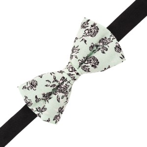 Sea Green Paisley print cotton Bow Tie