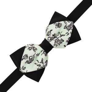 Diamon Tip Sea Green Paisley print cotton Bow Tie