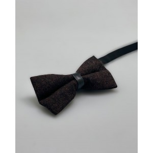 Dope Brown Wool Bow Tie