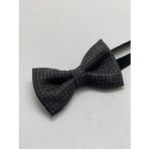 Houndstooth Dark Grey Bow Tie