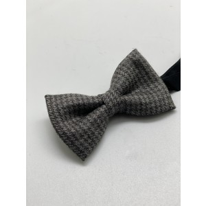 Houndstooth Lite Grey Bow Tie