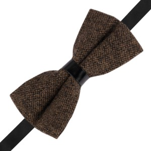 Dope Solid Khaki Wool Bow Tie