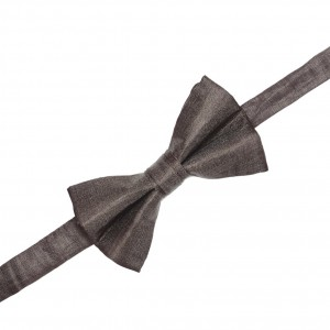 Arm Solid - Brown Butterfly pre-tie Linen Silk Bow Tie