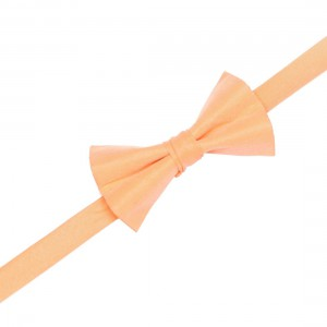 Arm Solid - Peach Butterfly pre-tie Silk Bow Tie