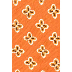 Wonder Floral Orange Cashmere Necktie By The Tie Hub