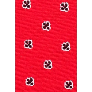 Span Floral Red Cashmere Necktie By The Tie Hub