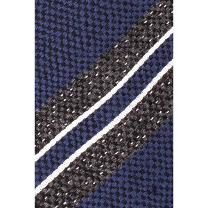 Short Cut Stripe Grey With Purple Cashmere Necktie By The Tie Hub