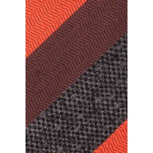Varios Stripe Orange And Brown Cashmere Necktie By The Tie Hub