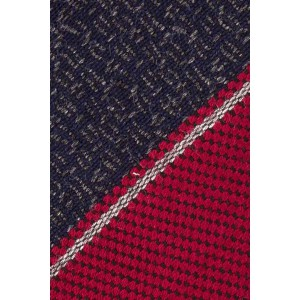 Studded Stripe Blue And Maroon Cashmere Necktie By The Tie Hub