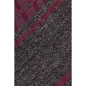 Turf Stripe Grey With Purple Cashmere Necktie By The Tie Hub