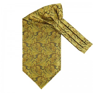 Royal Paisley - Golden Microfiber Cravet