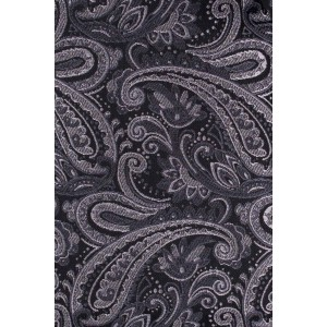 Custom Grey Paisley Cravat For Men By The Tie Hub