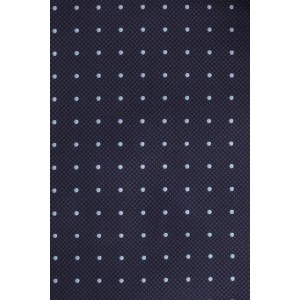 Revolve Navy with Sky Blue Mini Polka Cravat