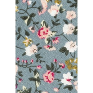 Sage Grey Floral 100% Cotton Necktie