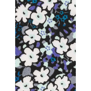 Reynold Black and Purple Floral 100% Cotton Necktie
