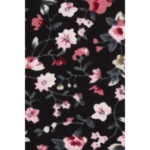 Houstone Black and Pink Floral 100% Cotton Necktie
