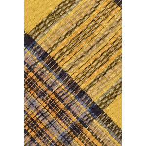 Kate Yellow and Black Plaid Cotton Neck Tie