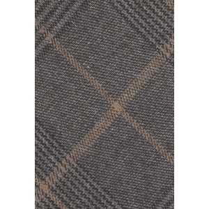 Stark Grey and Brown Checkerd 100% Cotton Necktie