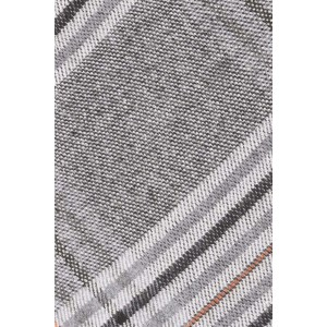 Spice Grey Checkerd 100% Cotton Necktie
