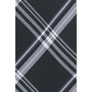 Motly Black Plaid Microfiber Necktie