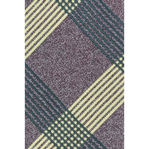 Commix Brown And Green Checkerd Microfiber Necktie