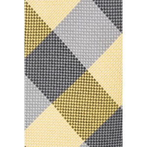 Anthem Plaid Yellow and Grey Necktie