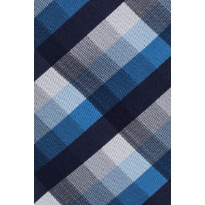 Refinado Plaid Navy Blue And Black Necktie