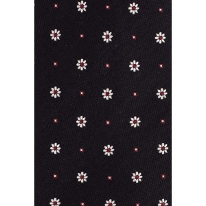 Free Fall Navy with White Floral 100% Silk Necktie