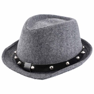 Herringbone Grey With Black Lather Hat By The Tie Hub