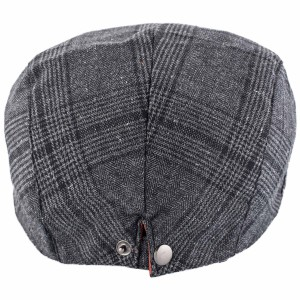 Merchant Grey And Black Flat Cap by The Tie Hub
