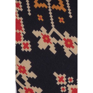 Navy Blue Patola 60% Silk 40% Cotton Necktie
