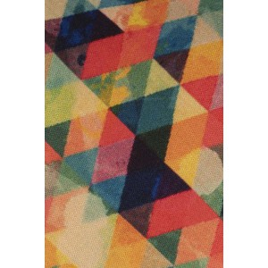 Multicolour Mini Pixal 60% Silk 40% Cotton Necktie