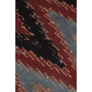 Brown, Black and Blue Ikkat 100% Khadi Necktie
