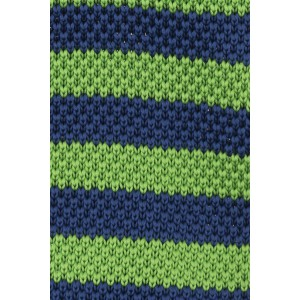 Rumbler Green and Blue Striped Knitted Necktie