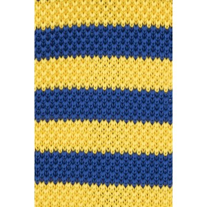 Rumbler Yellow and Blue striped Knitted Necktie