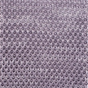 Constellation Solid Grey Slim Handmade Knitted Necktie