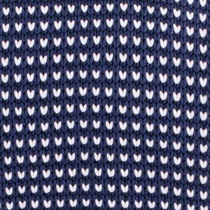 Bullet Dots Navy And White Slim Knitted Necktie