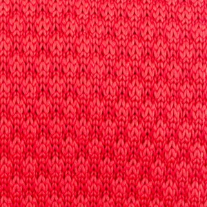 Solid Red Slim Handmade Knitted Necktie
