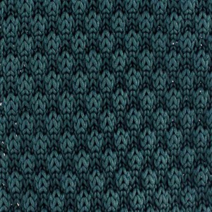 Solid Green Slim Handmade Knitted Necktie