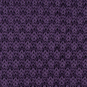 Solid Purple Slim Handmade Knitted Necktie