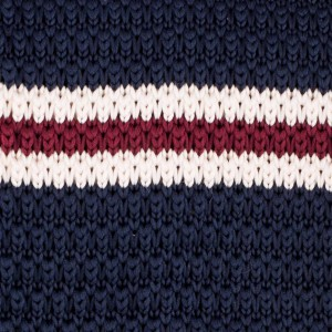 Antique Stripes Navy Blue Knitted Necktie by The Tie Hub