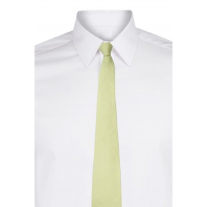 Solid-Lime Green Linen Necktie
