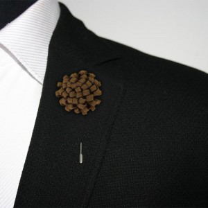 Opium Brown Lapel Pin