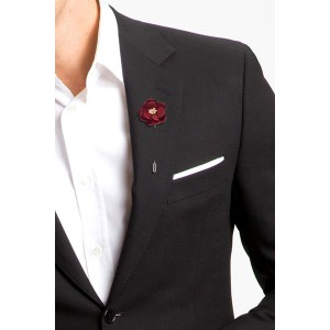 Lapel Pin - Red Silk