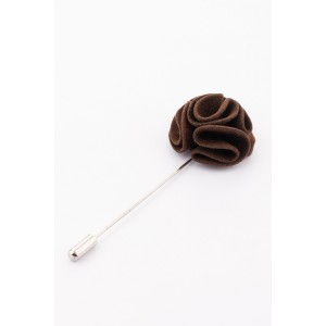 Blossom Brown Flower Lapel pin