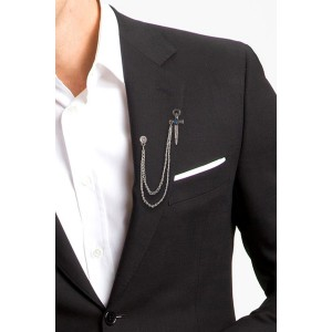 Sward With Blue Stone Lapel Pin